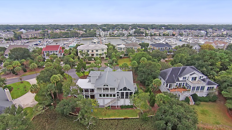 IMAGE CAPTION: One of our drones above the beautiful Charleston shoreline