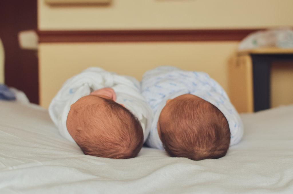 Syracuse, New York St. Joseph's Hospital Fresh 48 Newborn Twin Boys Photography