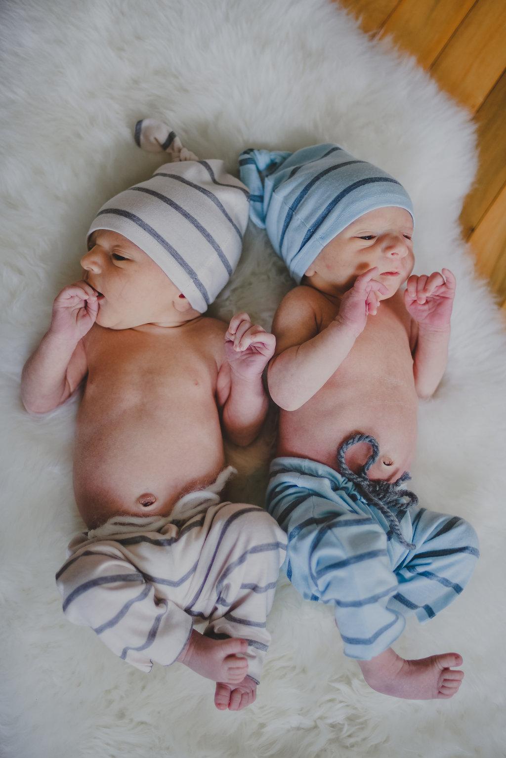 Syracuse, New York Newborn Twin Boy Lifestyle Photography // Emma Bauso Design