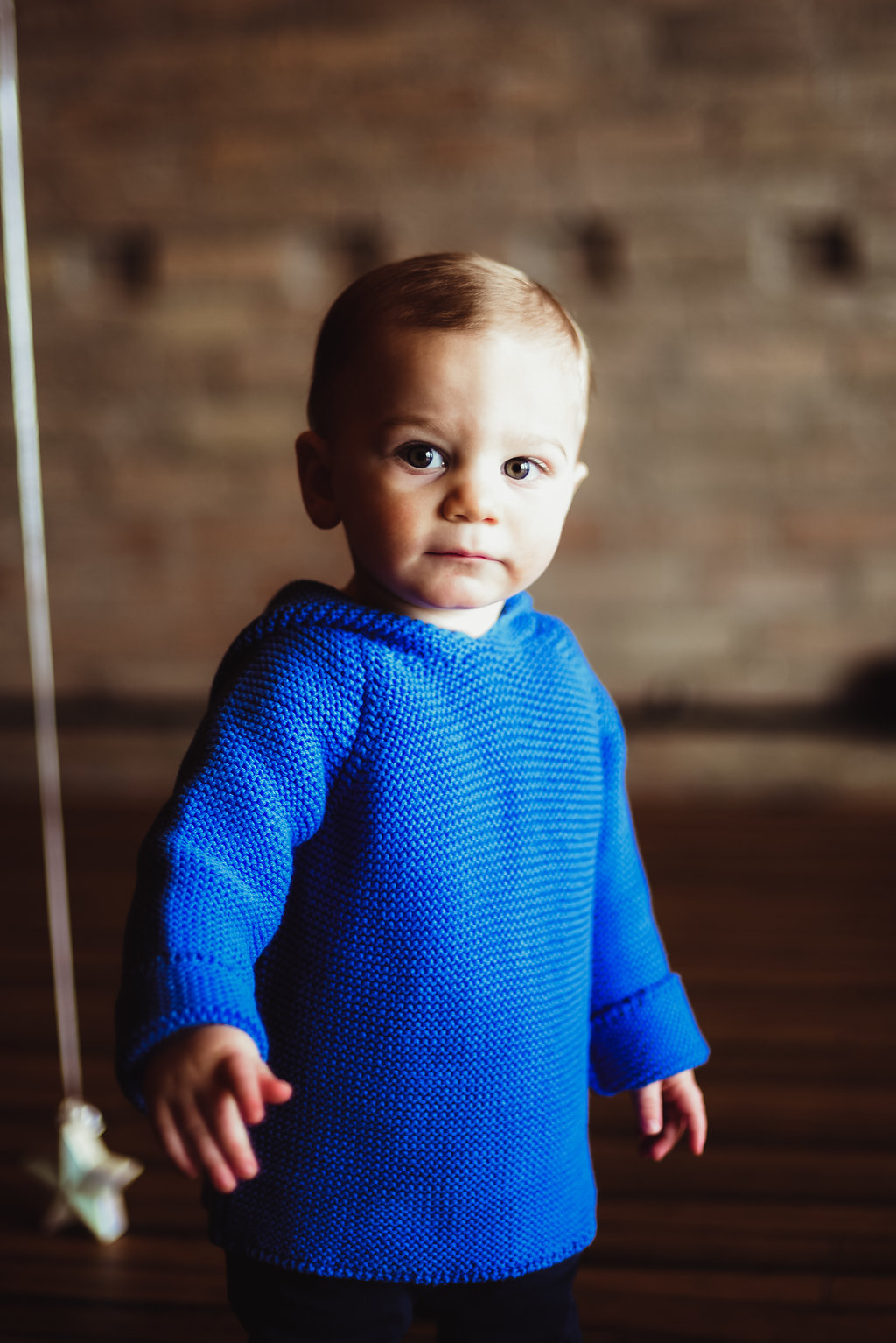 Skaneateles, New York baby boy's first birthday indoor studio portrait photography // Emma Bauso Design, Emma Bauso Photography. Sky Yoga and Wellness, Auburn and Syracuse New York family photography