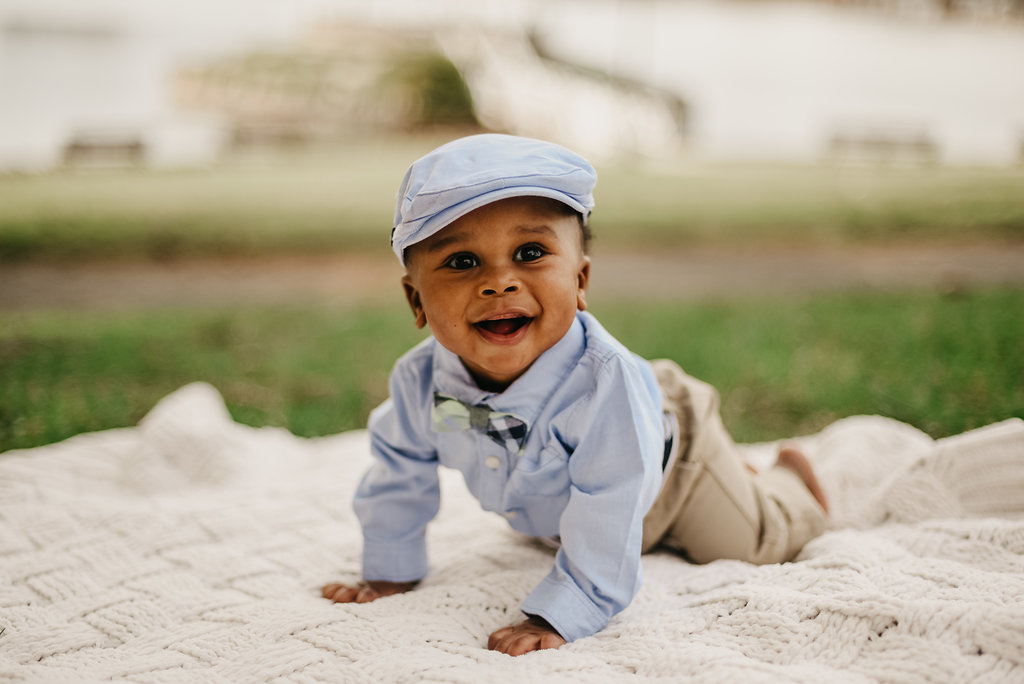 Channing, little baby boy photo portraits Easter outfit, spring outdoor photoshoot in Syracuse New York