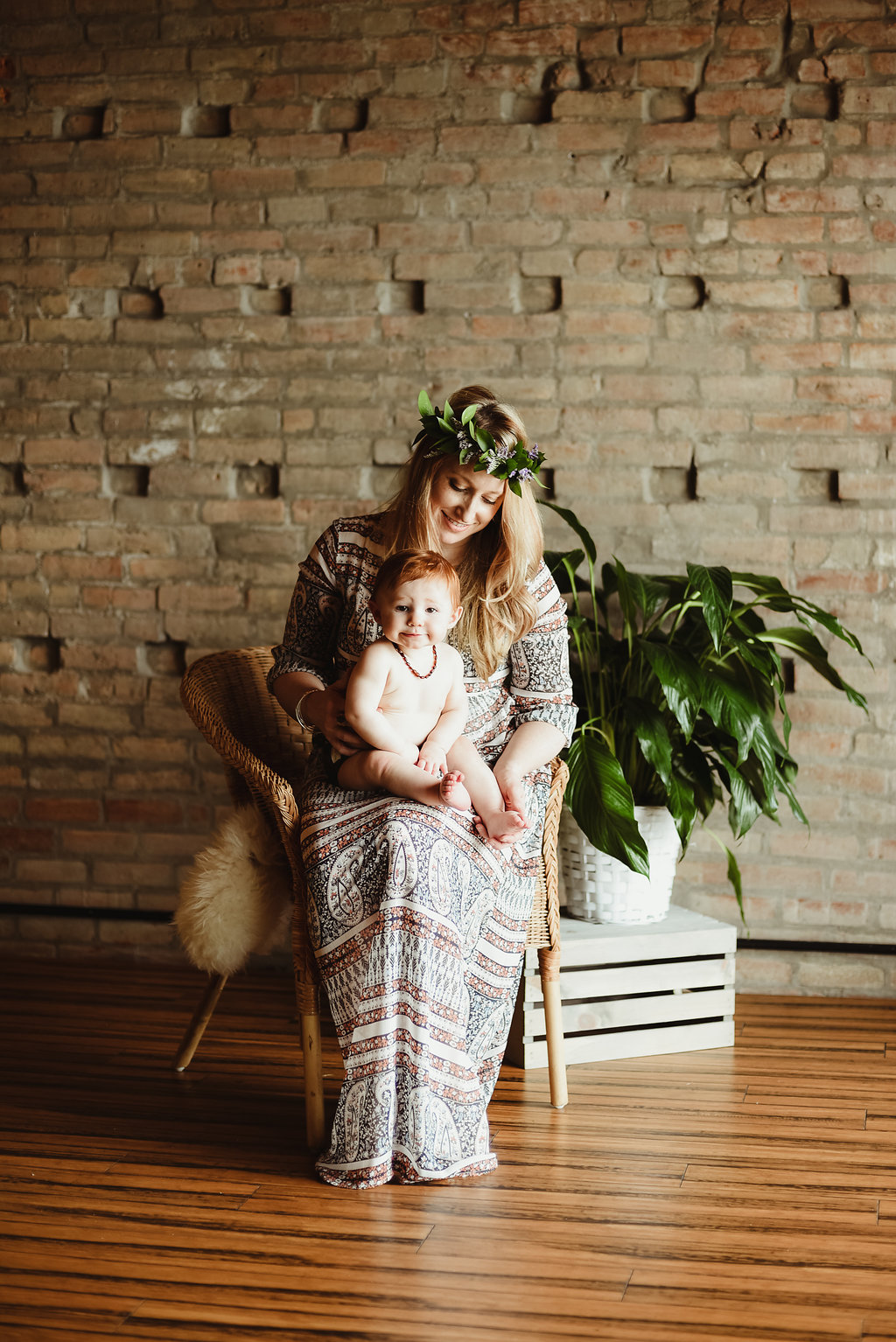 Modern boho indoor teepee photography session for mother's day in skaneateles new york