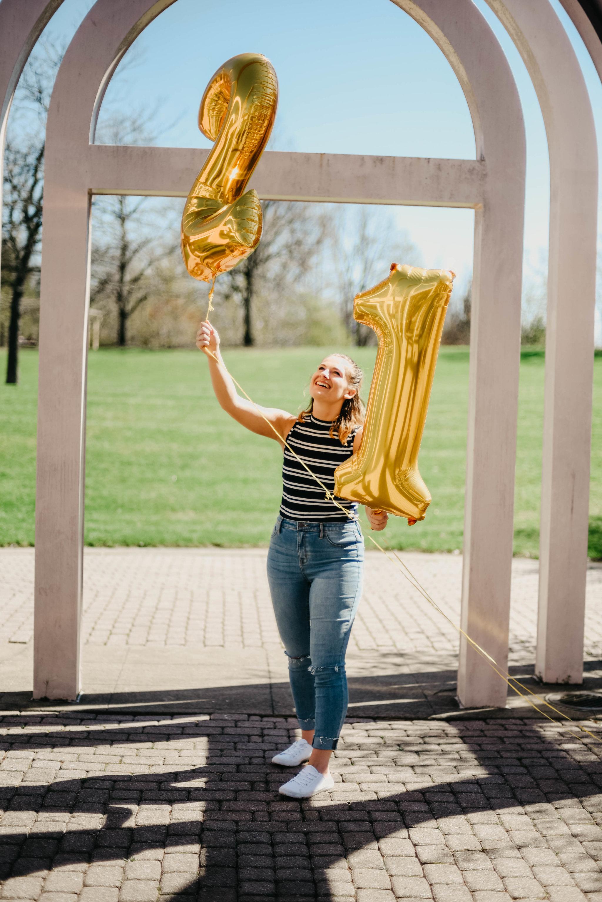 21st birthday portrait photography photoshoot // Rochester New York
