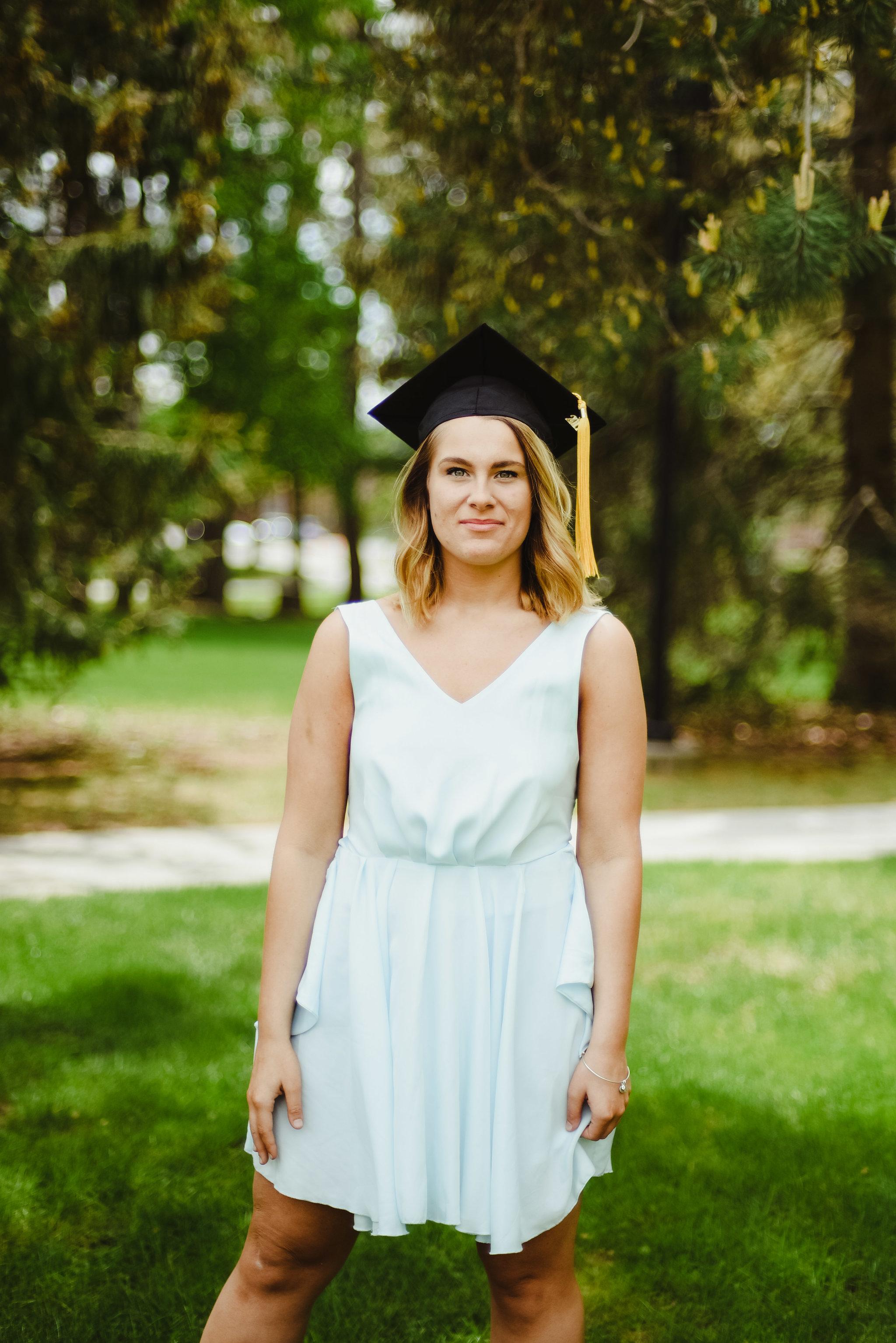 Graduation photography portrait // Rochester New York Nazareth College