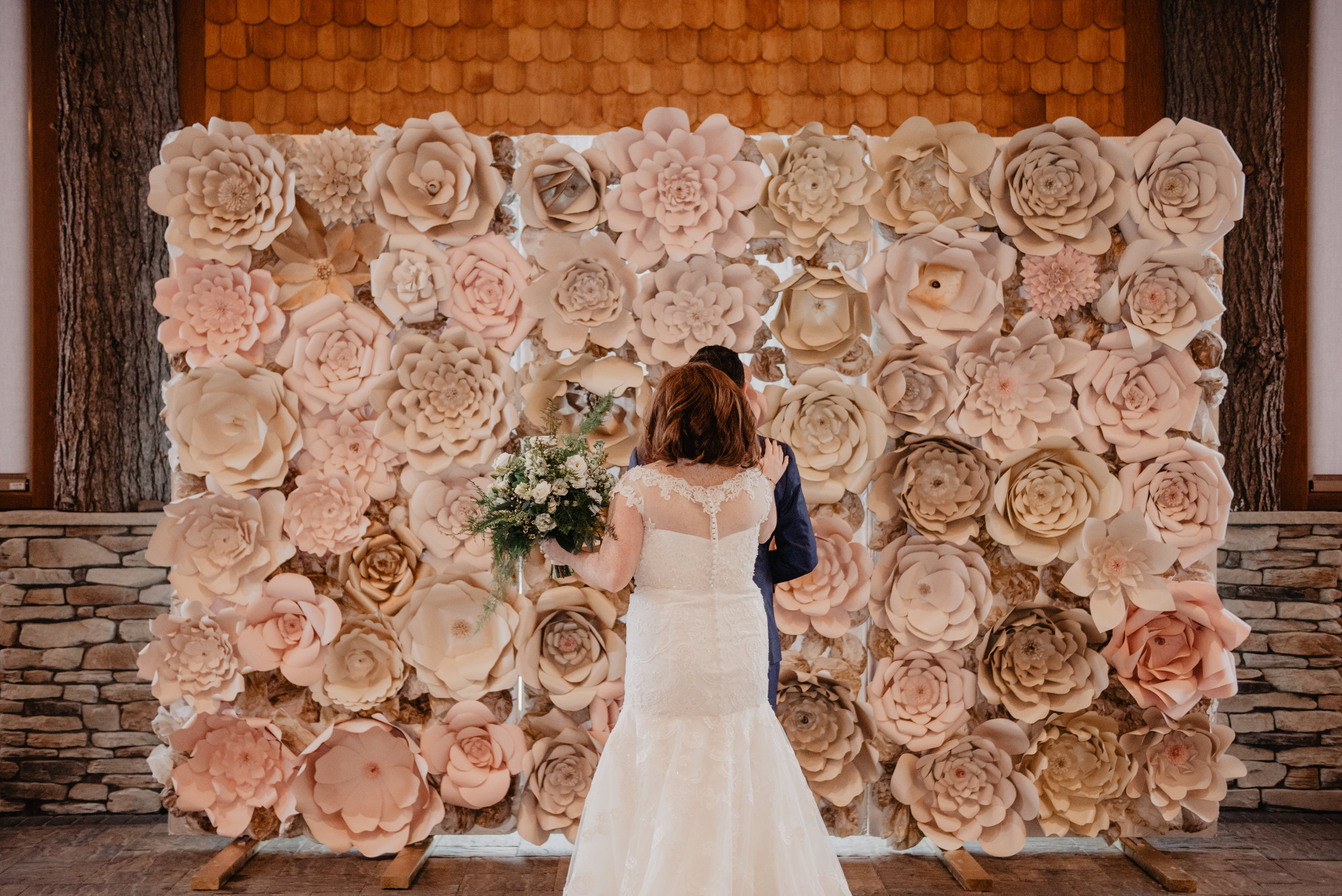 Flower wall by the bride, florals by AMK Floral