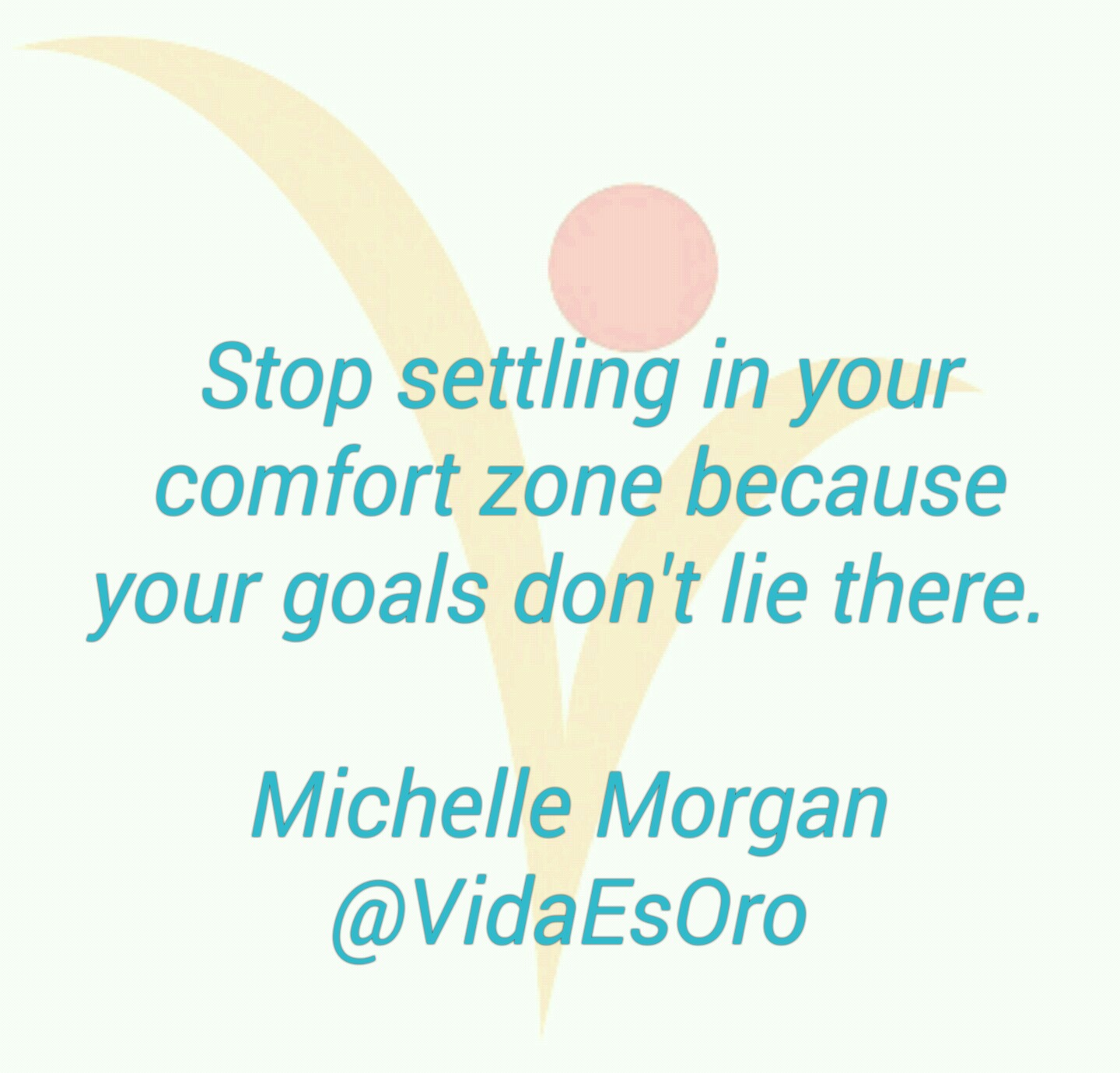 Comfort zone quote - vida es oro - Welcome page