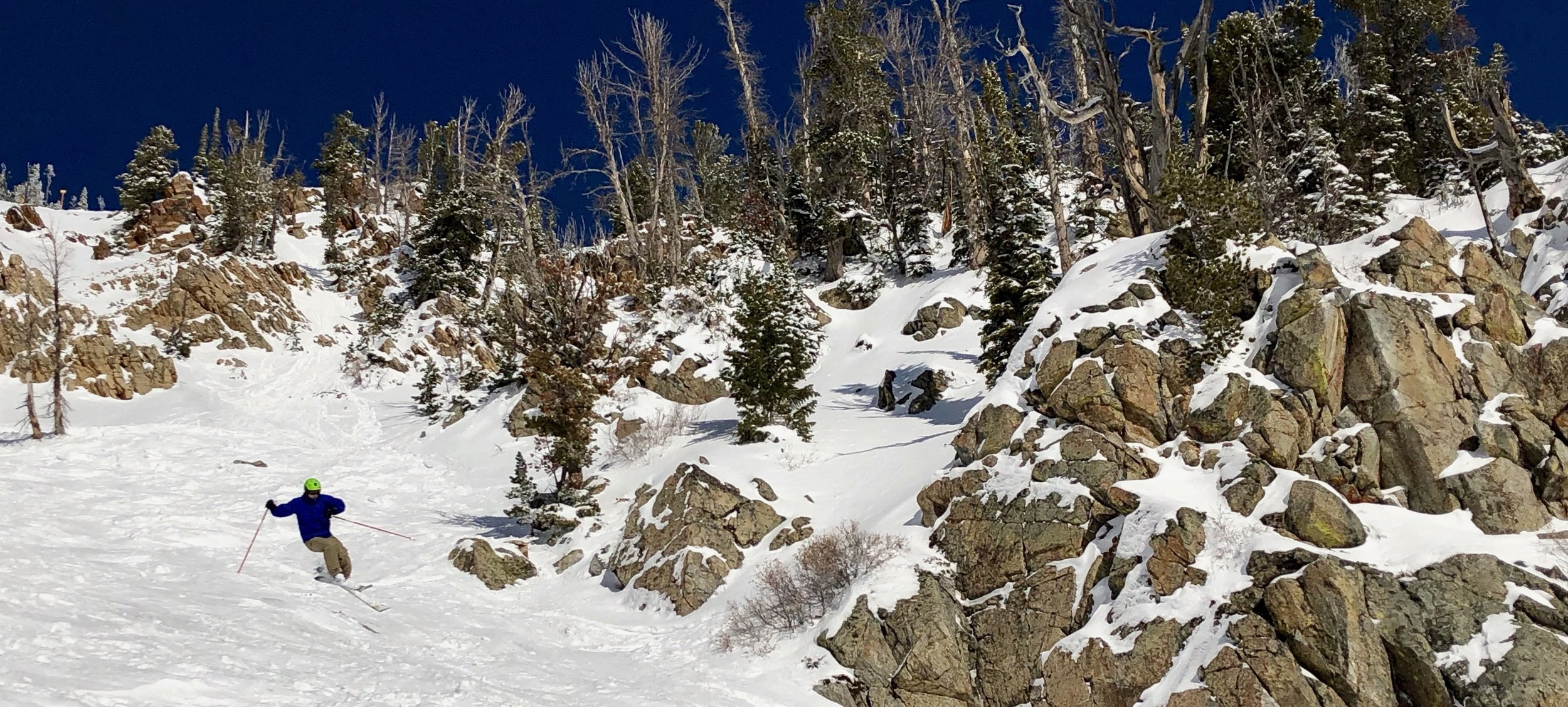 Stahl skiing in the Tetons.