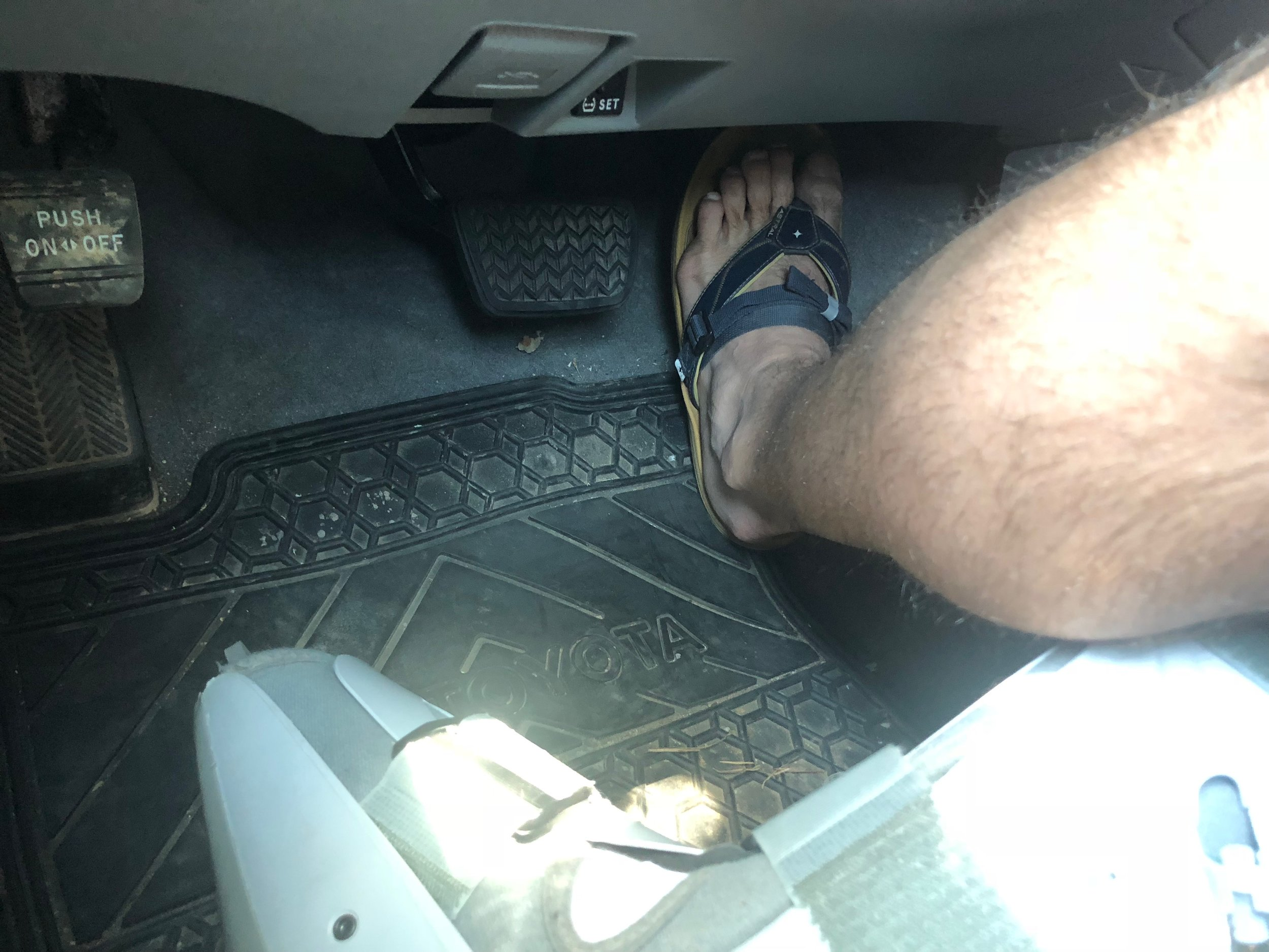 After a few days of practice (important!), driving with my left foot became every bit as effective as driving with my right. A standard transmission, however, would have been a problem.