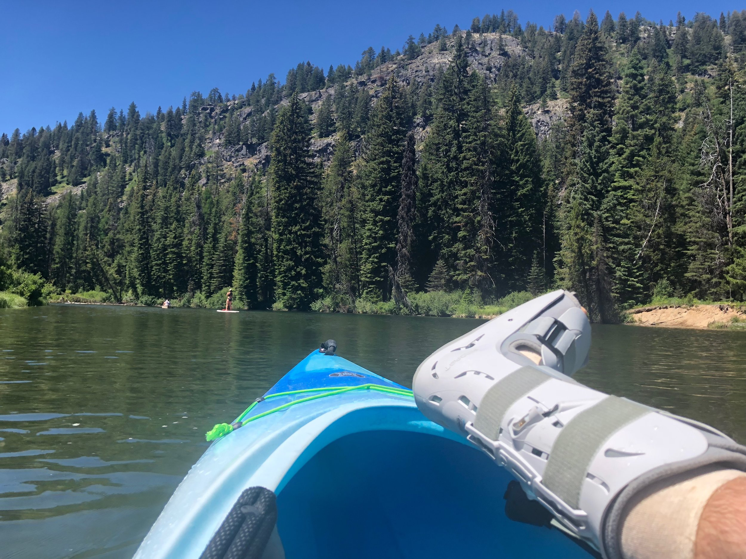 It's a bad idea to get a wound like this wet, so kayaking isn't advisable, but it was a great way to get outside and alleviate some of the mounting depression that came during recovery.