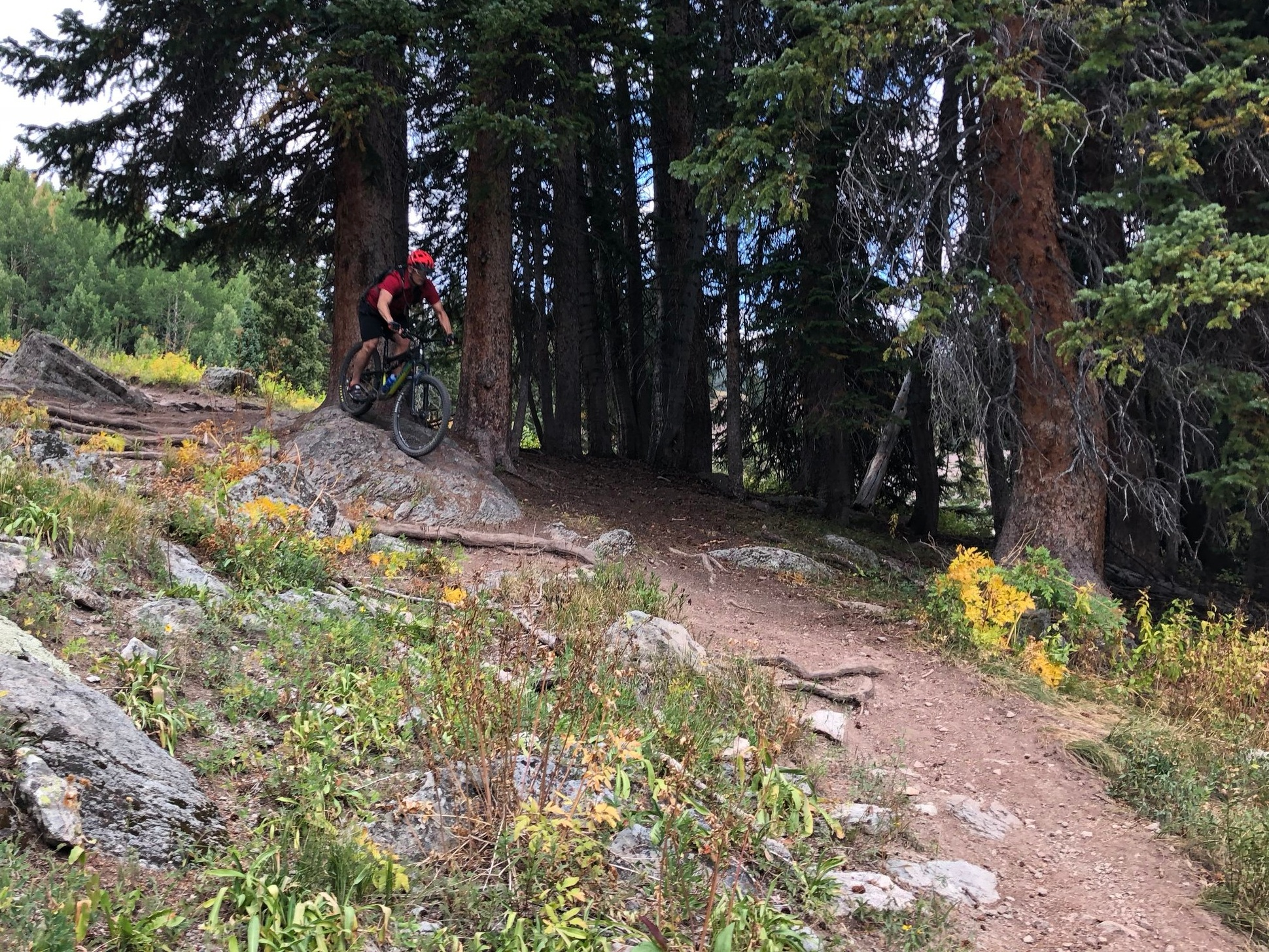 Riding the trails near Crested Butte, Colorado.