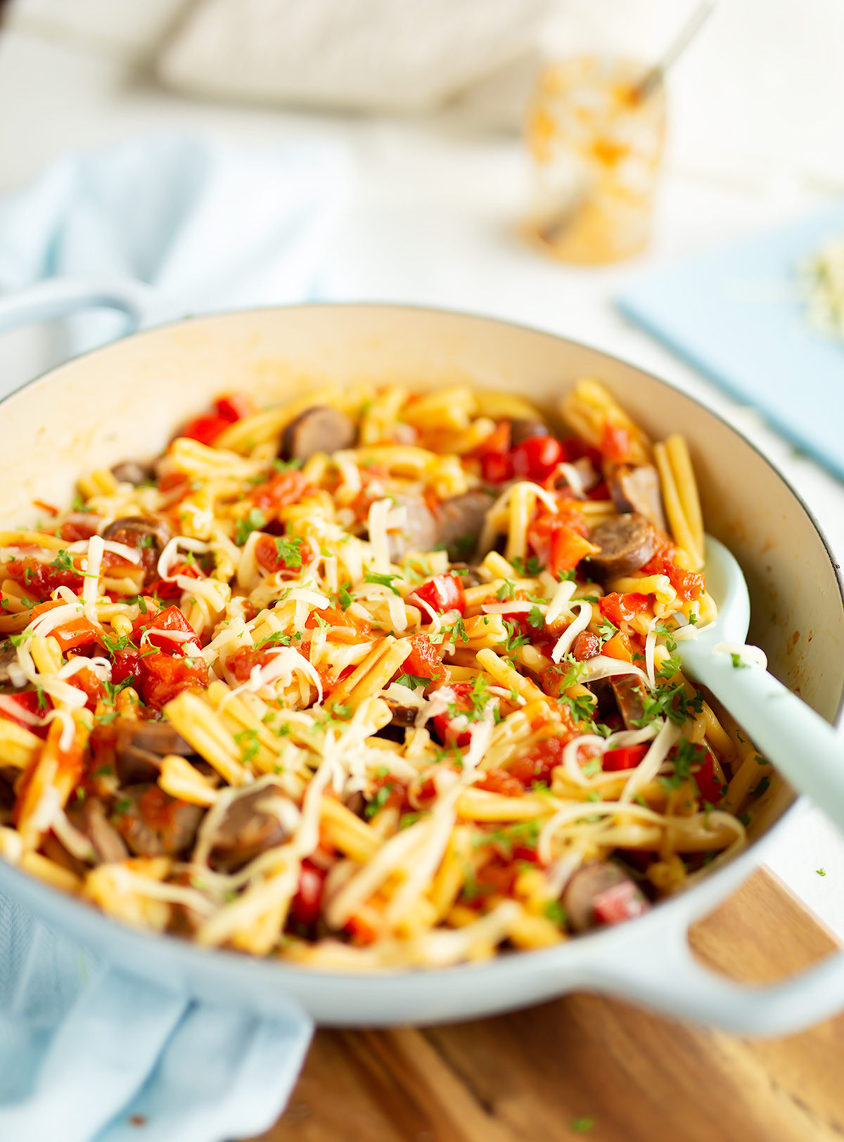 Leftover Sausage Pasta with Tomato Relish | Crunch Preserves