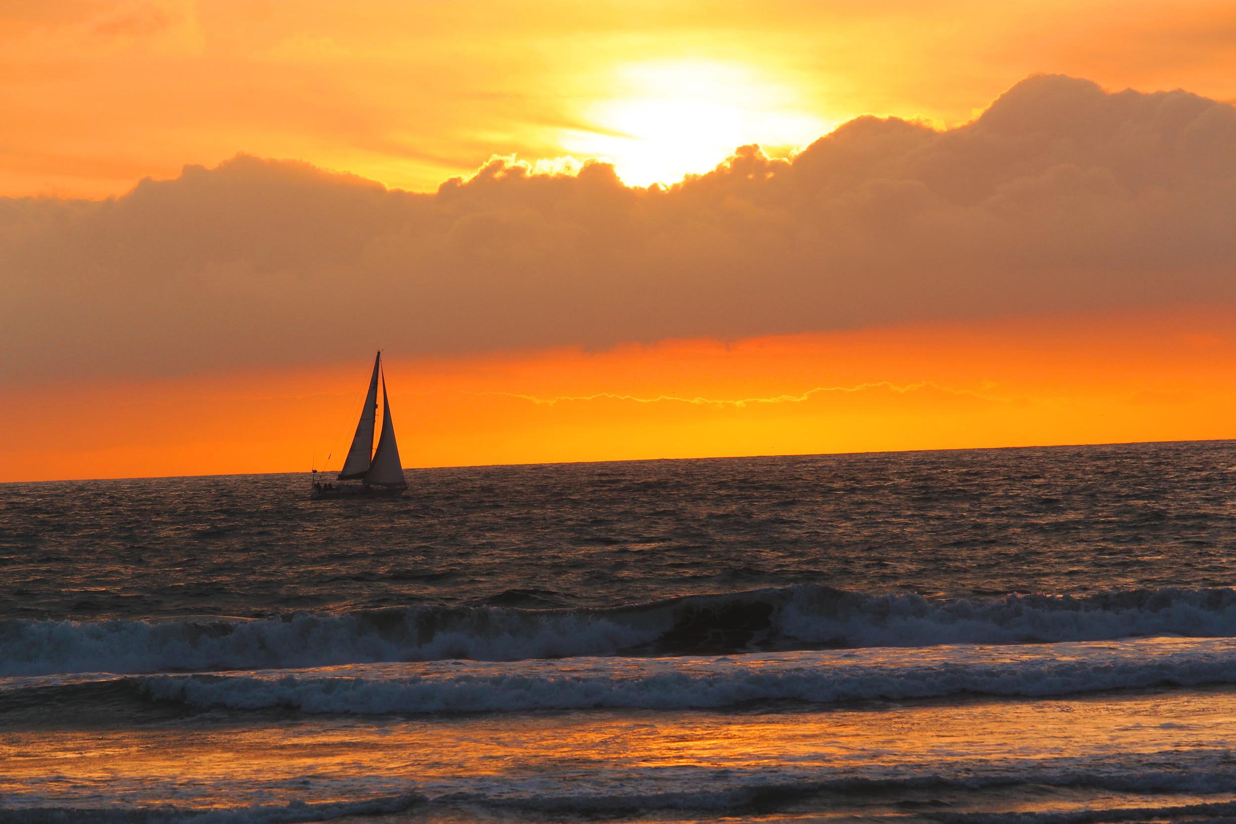 Sailboat at sunset!