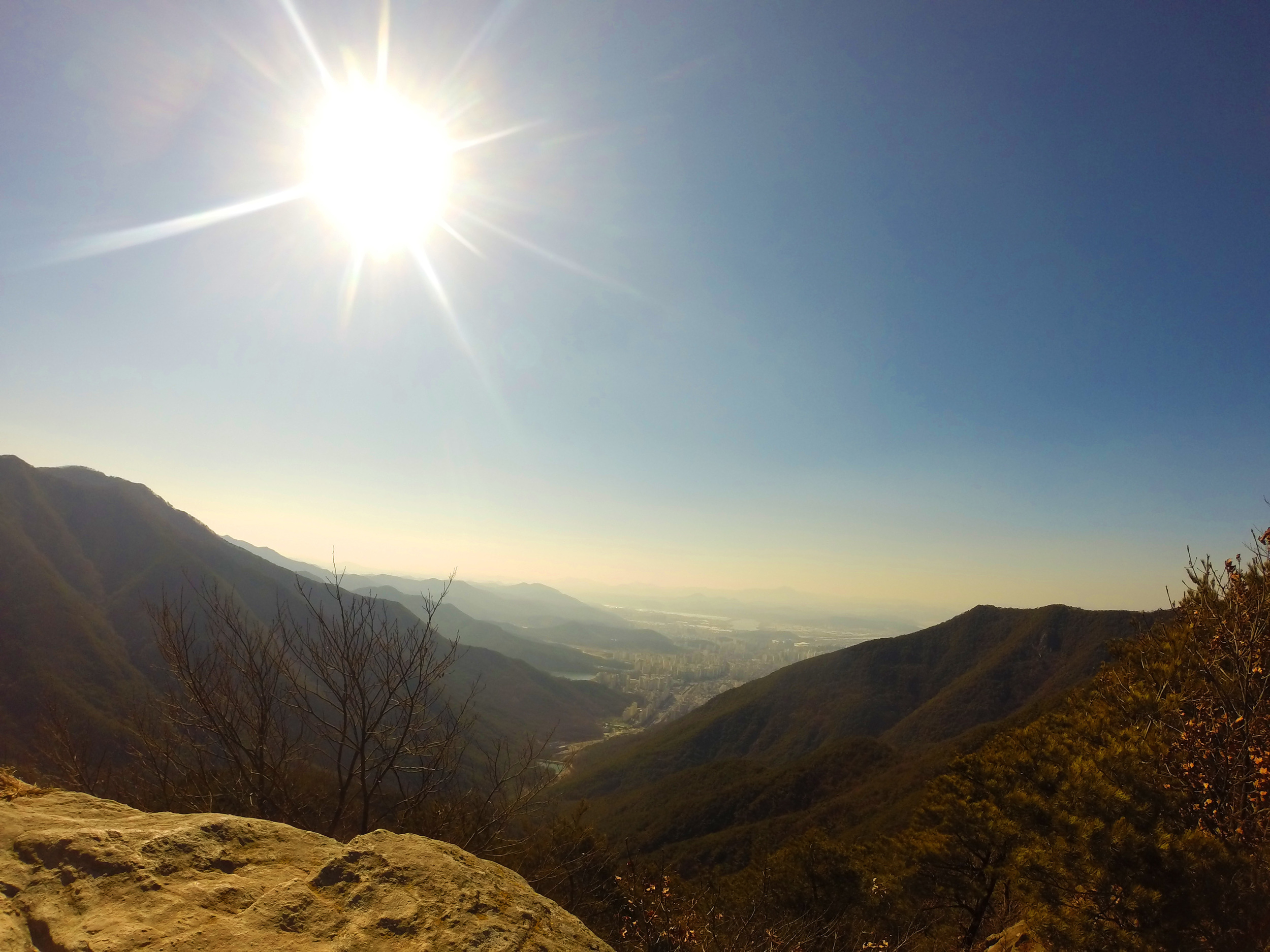 View from atop Mount Apsan—not too far from where I live in Daegu