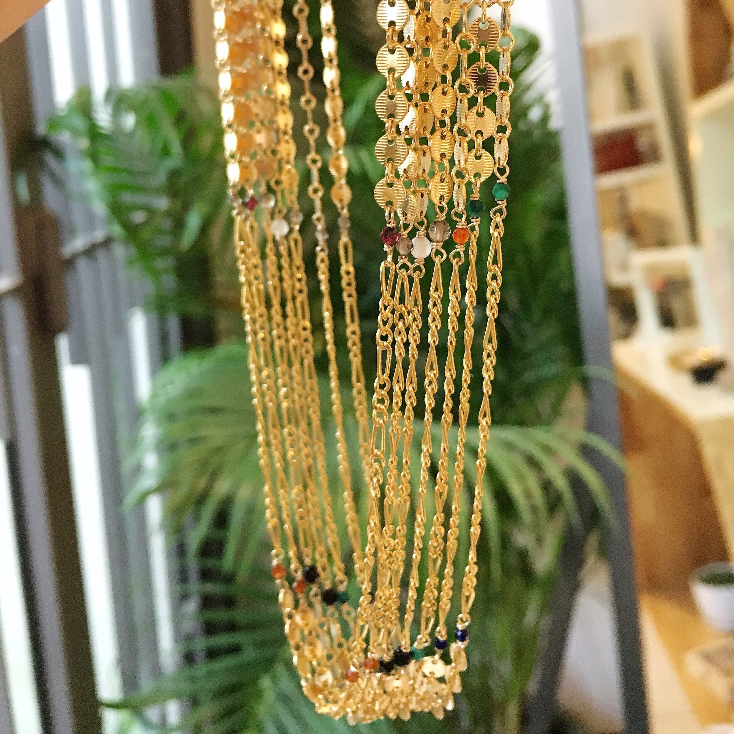 - 14k gold-filled chain