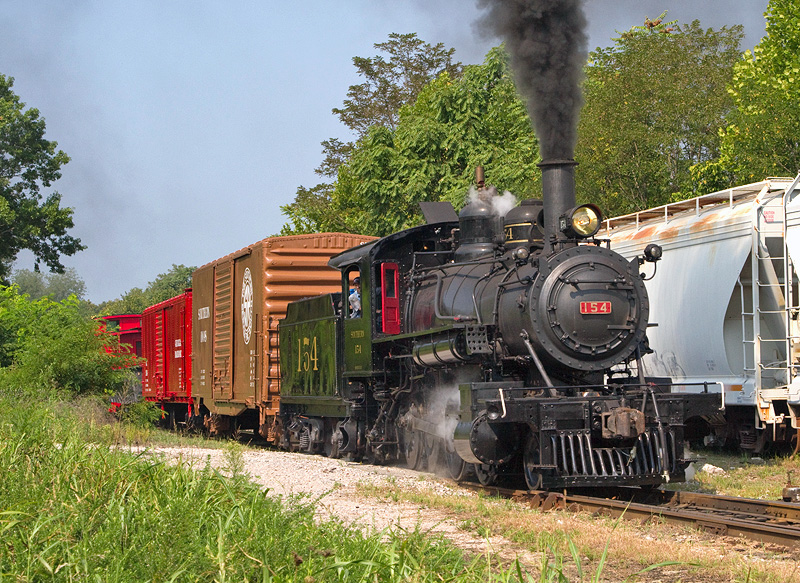 154 after restoration was complete. Photo by Walter Scriptunas.
