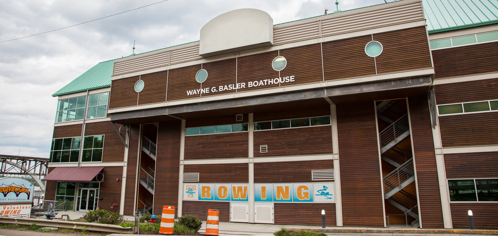 Before our depot was constructed, the boathouse was the start and end location for the Three Rivers Rambler. Image credit: UT Sports