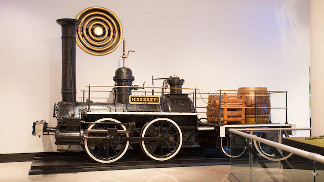 """Mississippi"" locomotive displayed at the Museum of Science and Industry from where it was purchased at auction. (Bonhams photo)"