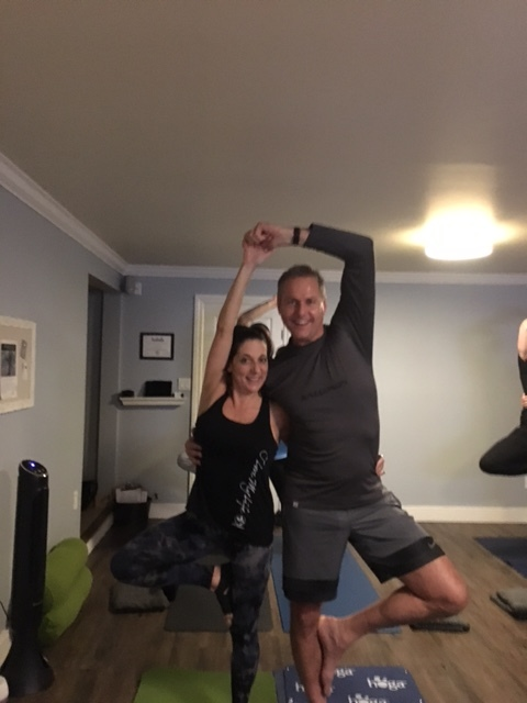 Tree Pose - So fun to balance with each other!