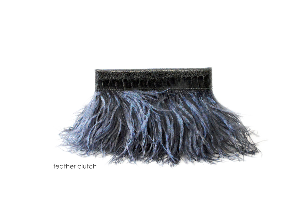 FEATHER CLUTCH  OF grey mailer.jpg
