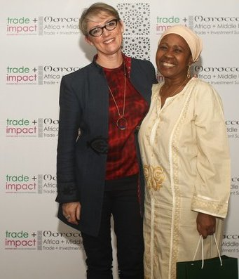 Kathleen and Rose at the 2016 Trade+Impact Summit Morocco, September 2016