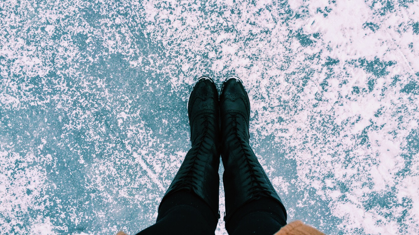 Frozen lake Stockholm