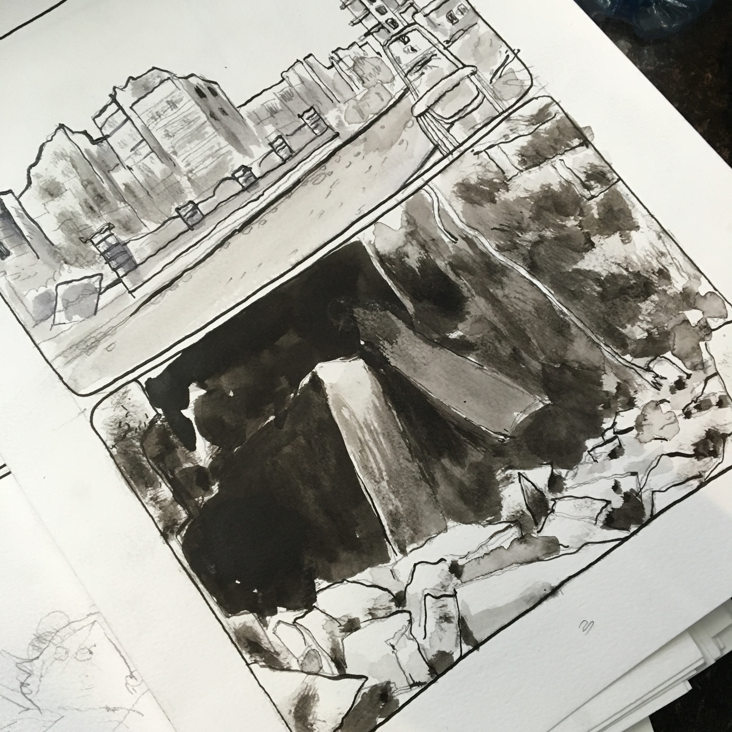 Drawing ruins obviously takes too much time for a 24 hour project.