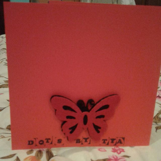 Signature #dotsbytya stamp #butterfly #handmadecards