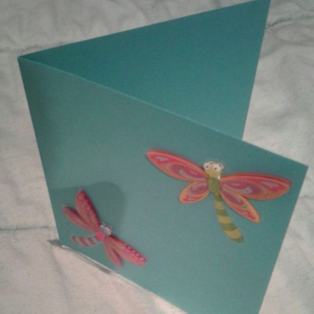 Dragonflies 💕💕💕 Check out the website for details  #dragonfly #spring #handmade #kuwait #greetingcards