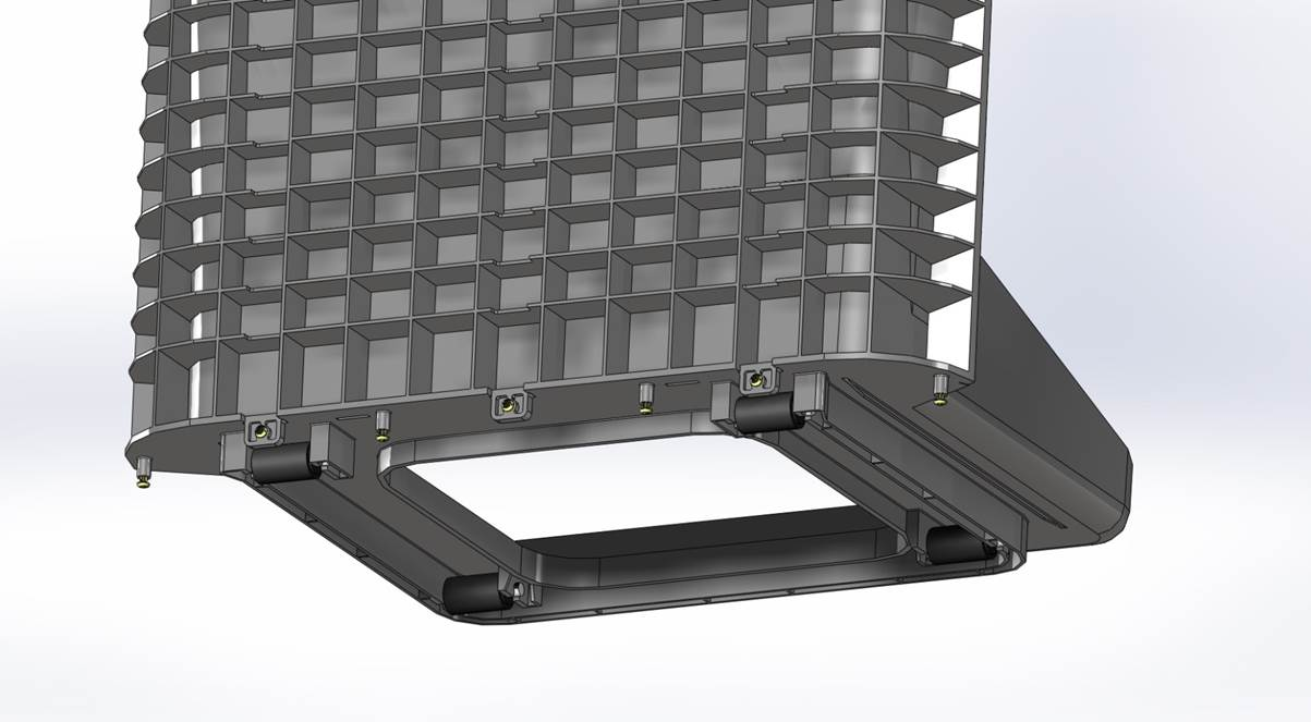 Vertical side slots incorporated for fast assembly of the front face plate