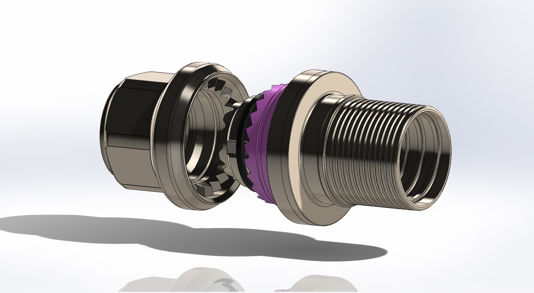 Redesign of straight connectors showing the new ultrasonic welded body and tails
