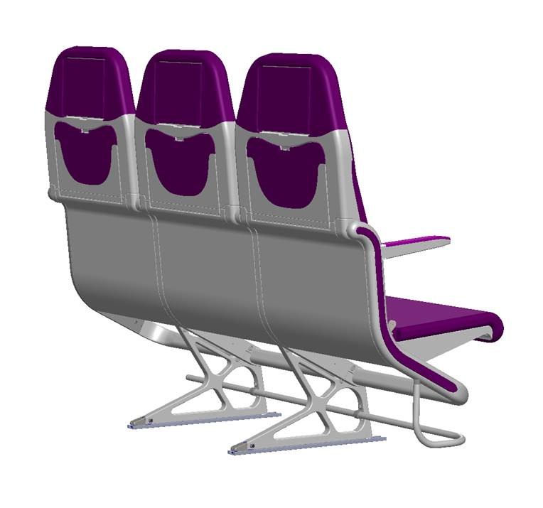 Elegance, space and smooth lines in the new carbon seats for Economy