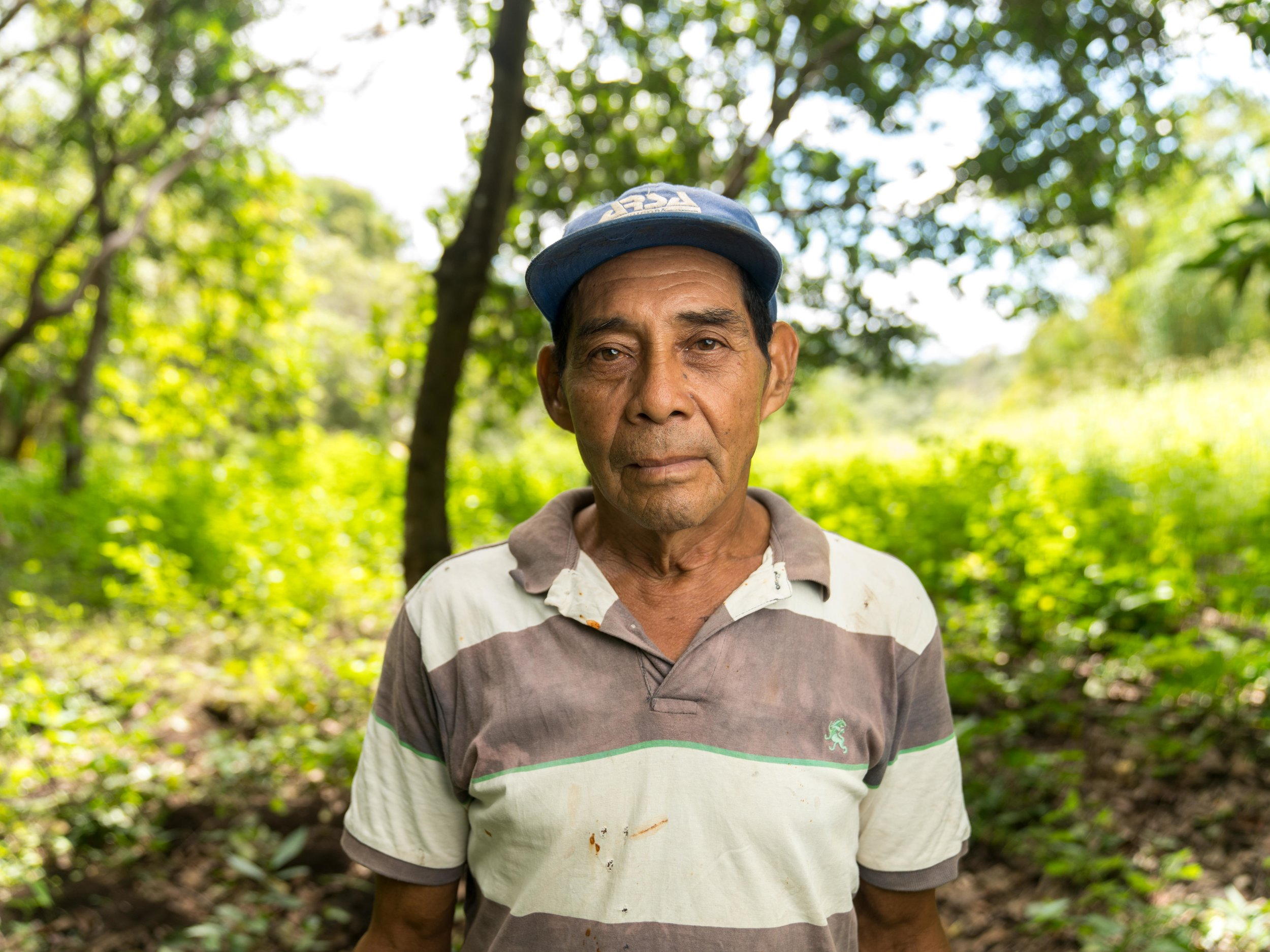 "This is Miguel Torres, a ""cuidador"" or caretaker of a property one of my new found friends own. He has worked with his hands all his life, and was a ""grey work"" ie concrete layer before he was brought on as a caretaker. Right out of frame is the ubiquitous Nica machete"