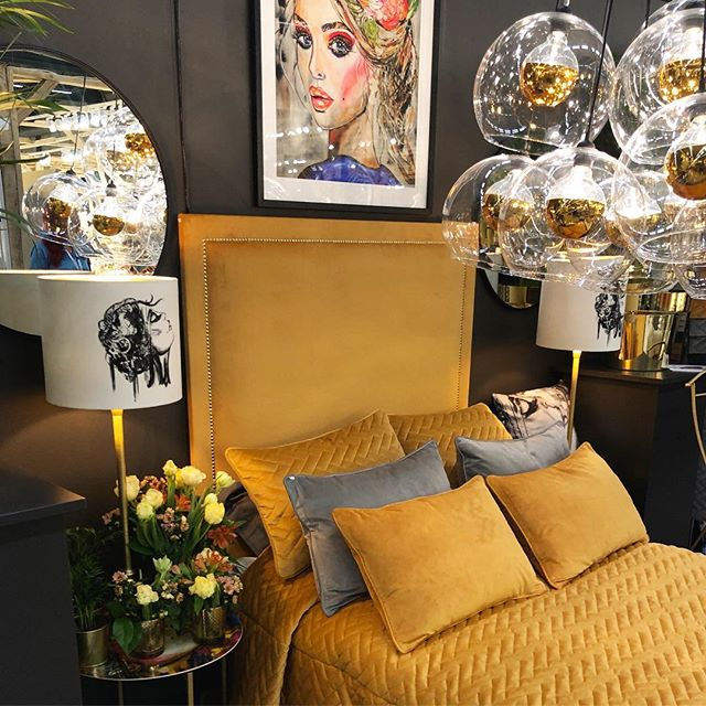 Mr.French Headboard spotted at @formex.se 💛 In collaboration with @veroniccarts - Check them out at A23:18 at Formex 👏🏻 #Mimosabyinka #headboard #stockholm