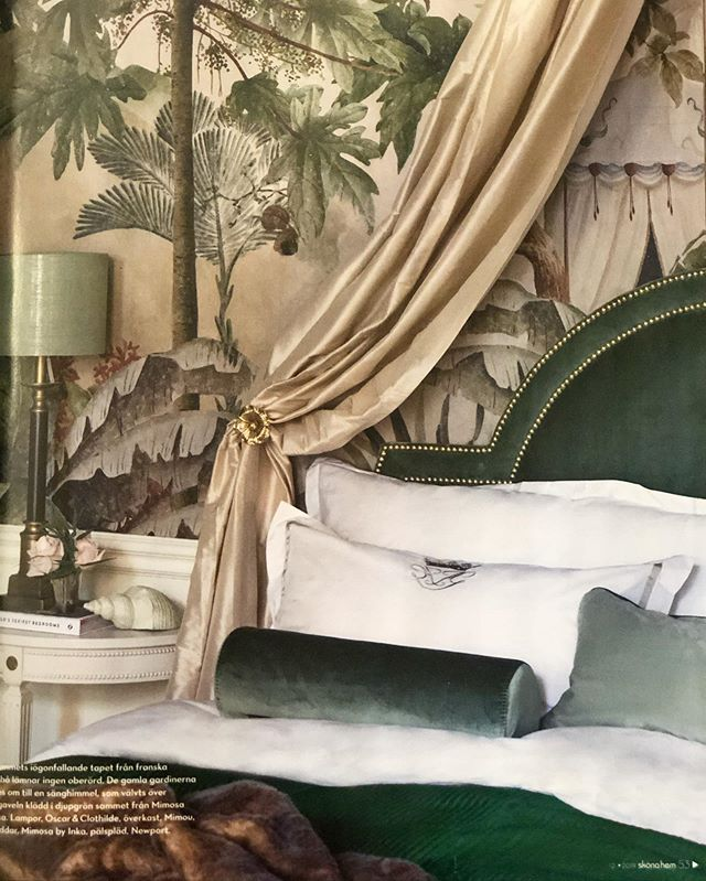 Sparkles headboard spotted in latest issue of @skonahem - This styling tho, beautifully created by @tretowdeco 💕 #Mimosabyinka #headboard #Stockholm