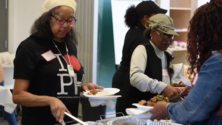 Fellowship and sharing a meal are part of our faith community's life. We like being together.