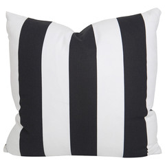 BLACK SLUB AND WHITE STRIPE PILLOW $96.00
