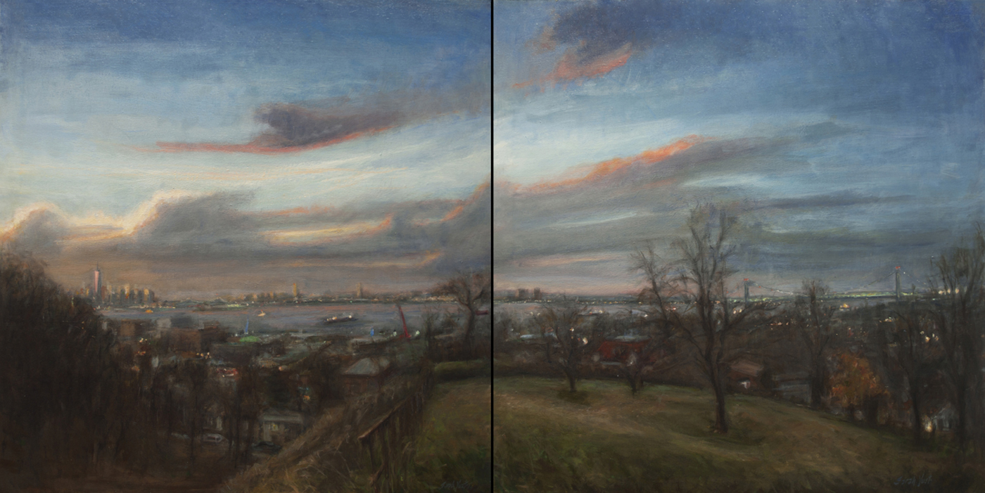 New York Harbor and the Narrows (diptych)