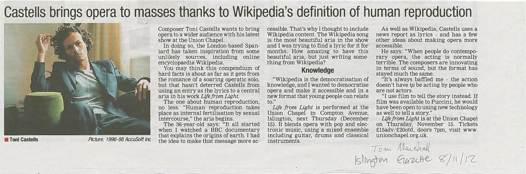 Islington Gazette (2012)