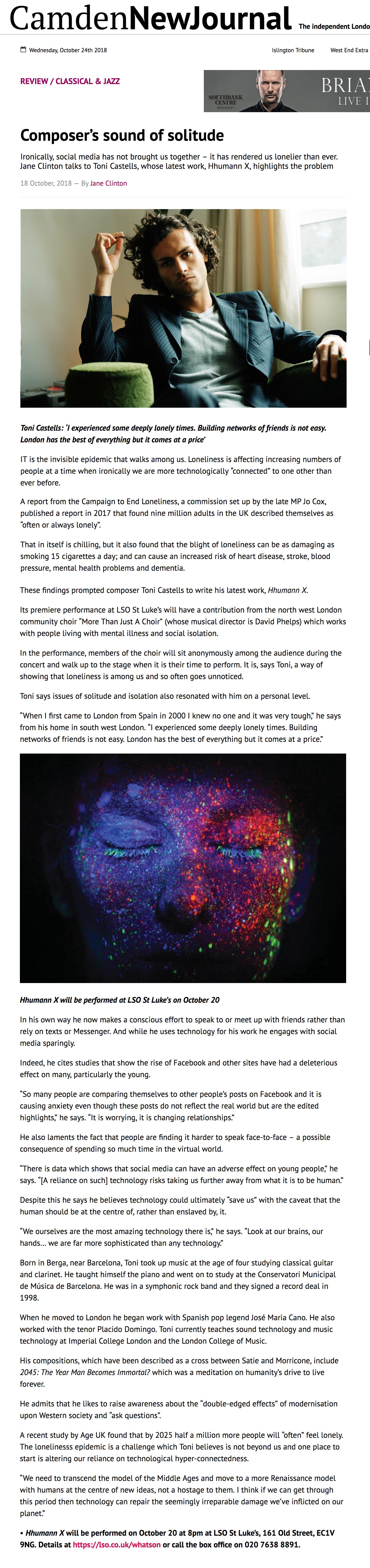 Camden New Journal (2018)