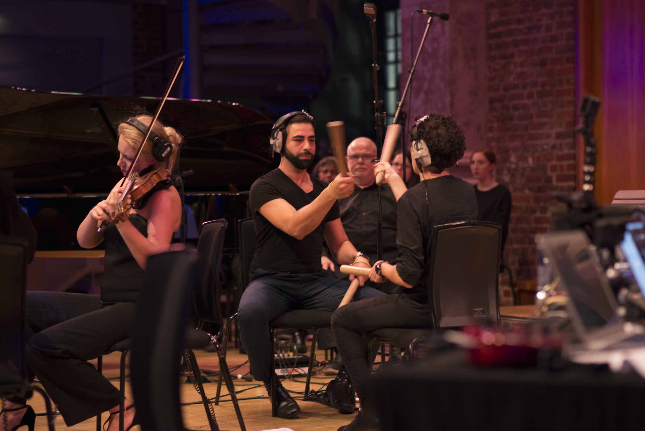 "Jesus Balta and Maria Pachon playing the ""bastons"""