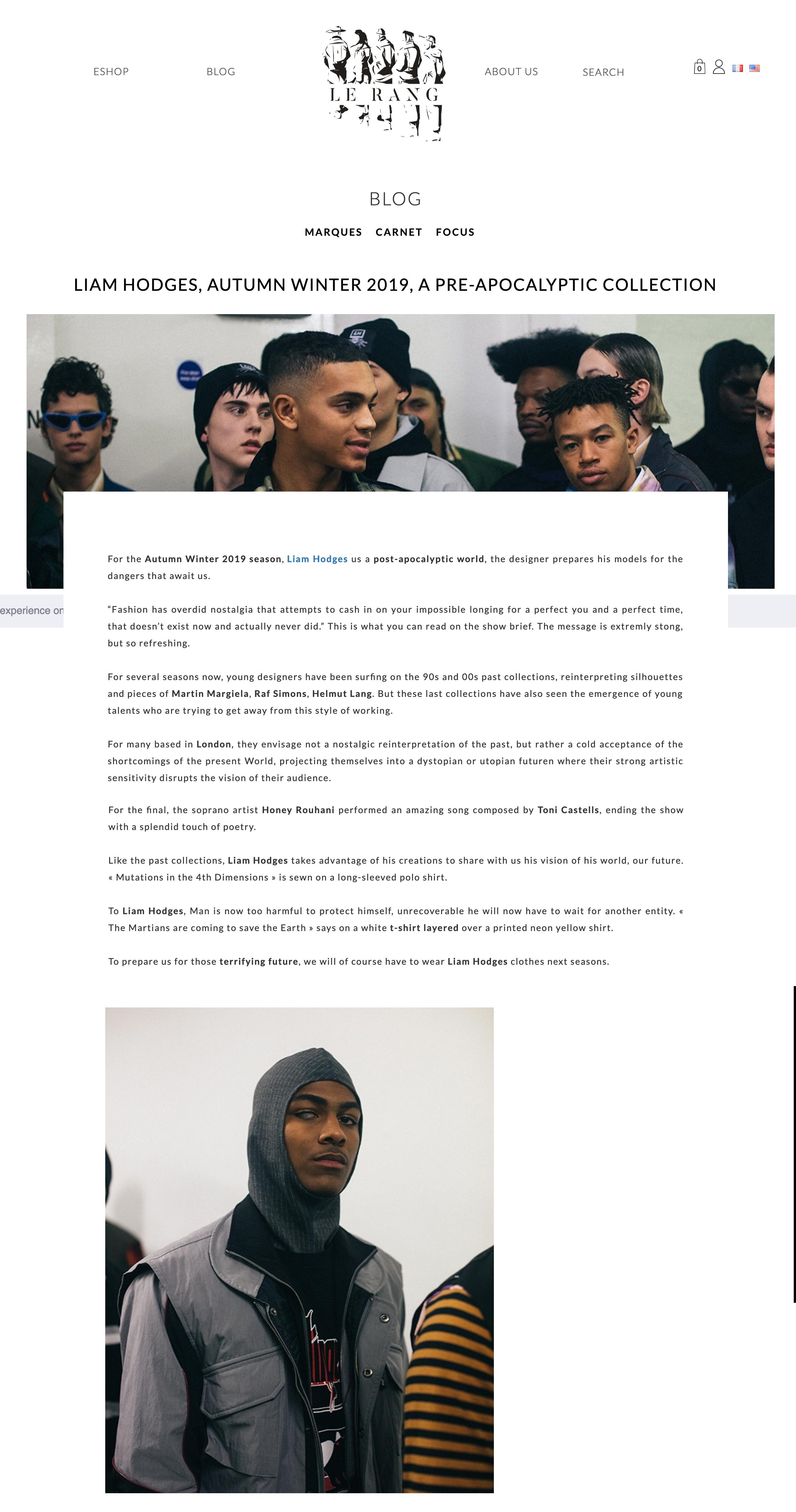 Le Rang Magazine (2019)
