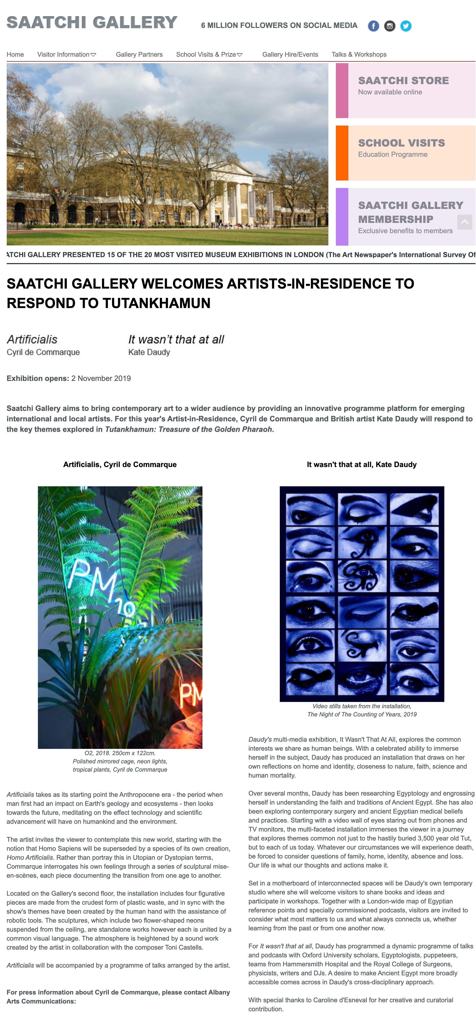Saatchi Gallery (2019)