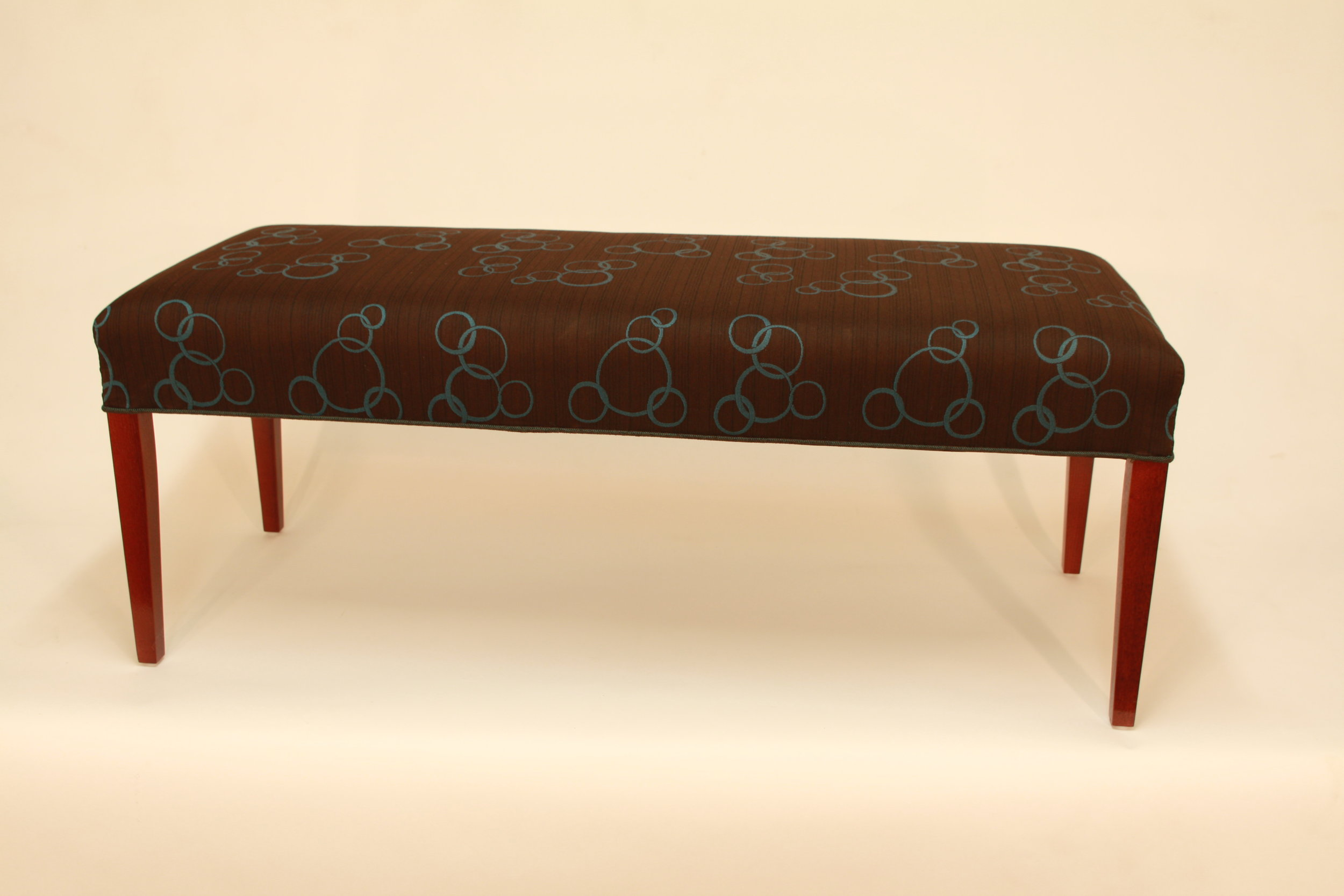 Upholstered accent bench