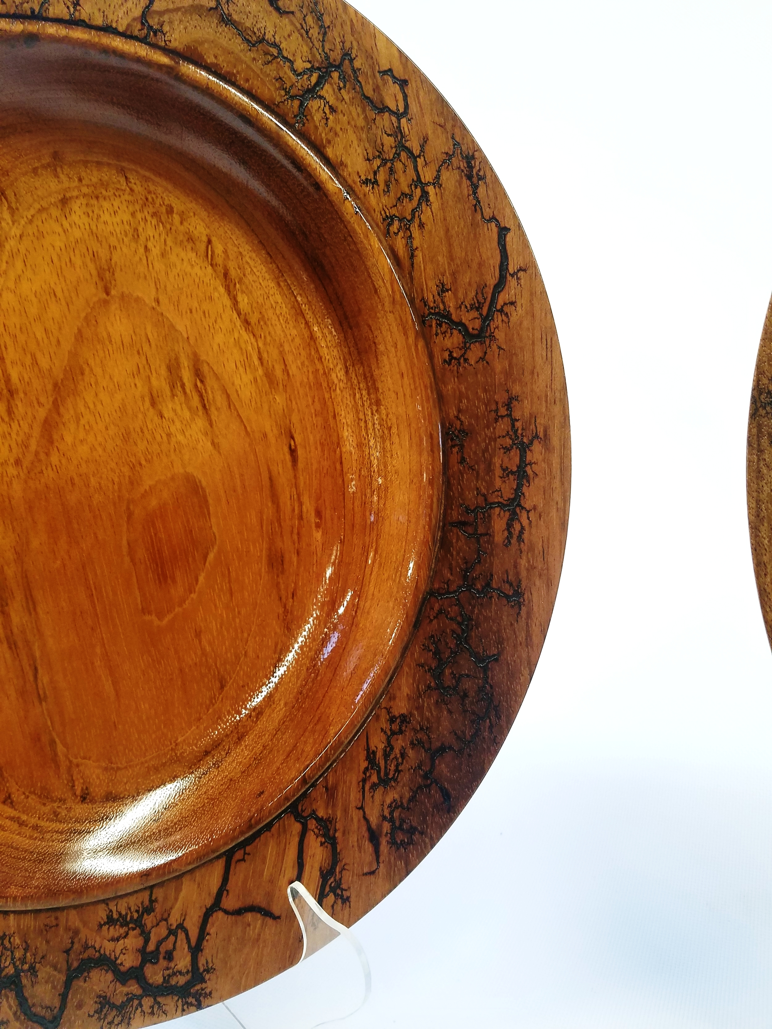 Jatoba Platter, one of a pair with Lichtenberg figuring