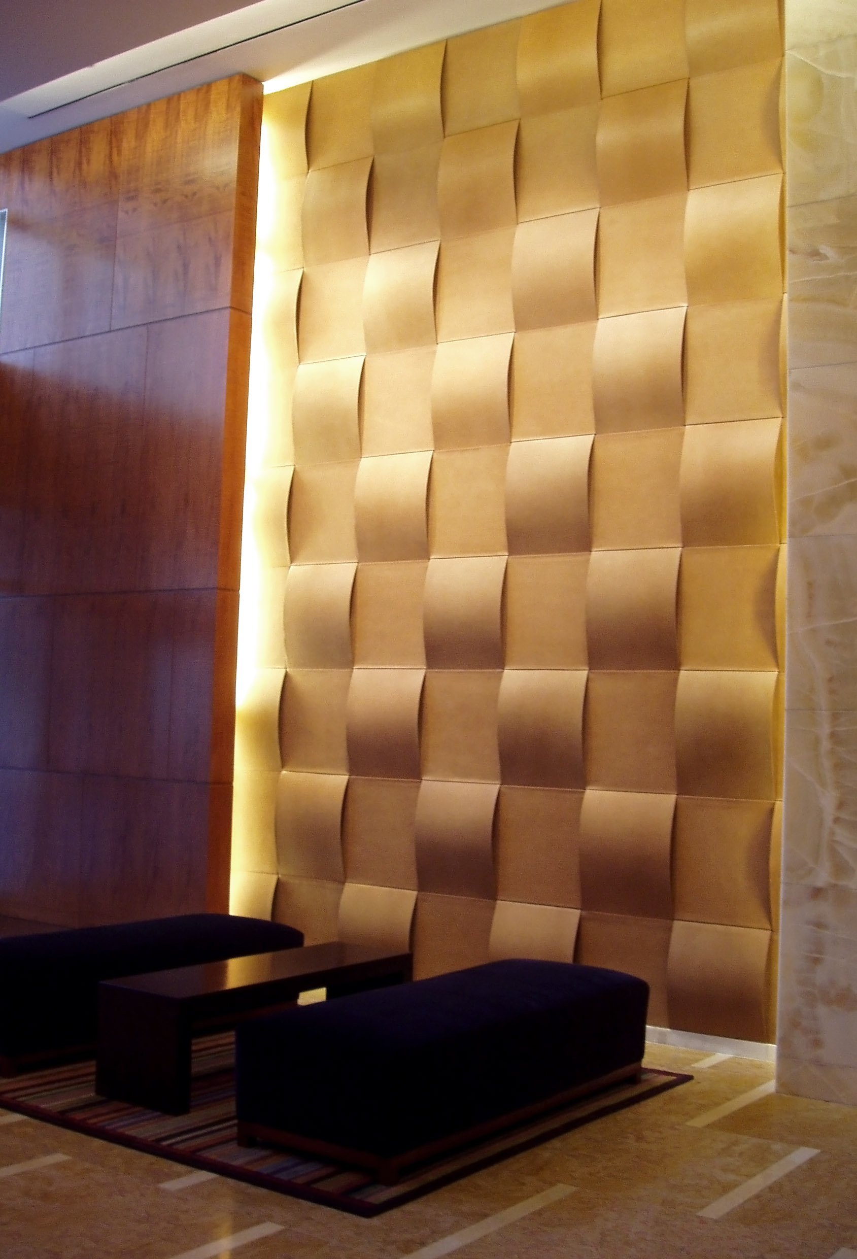 Woven Leather Lobby Wall