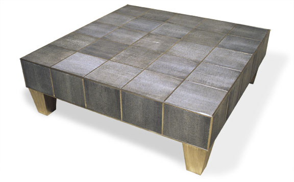 3006-SM Shagreen Coffee Table