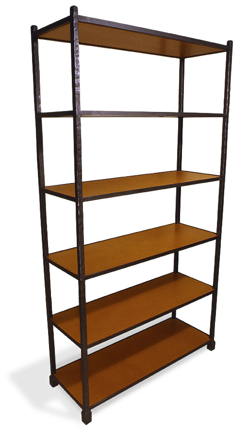 3090L Etagere 6 Leather Wrapped Shelves