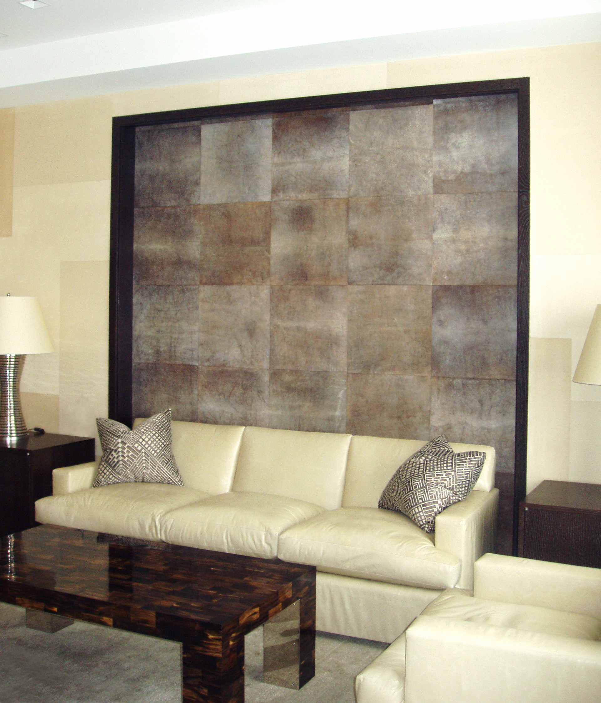 Custom Color Sheepskin Parchment Wall Panels