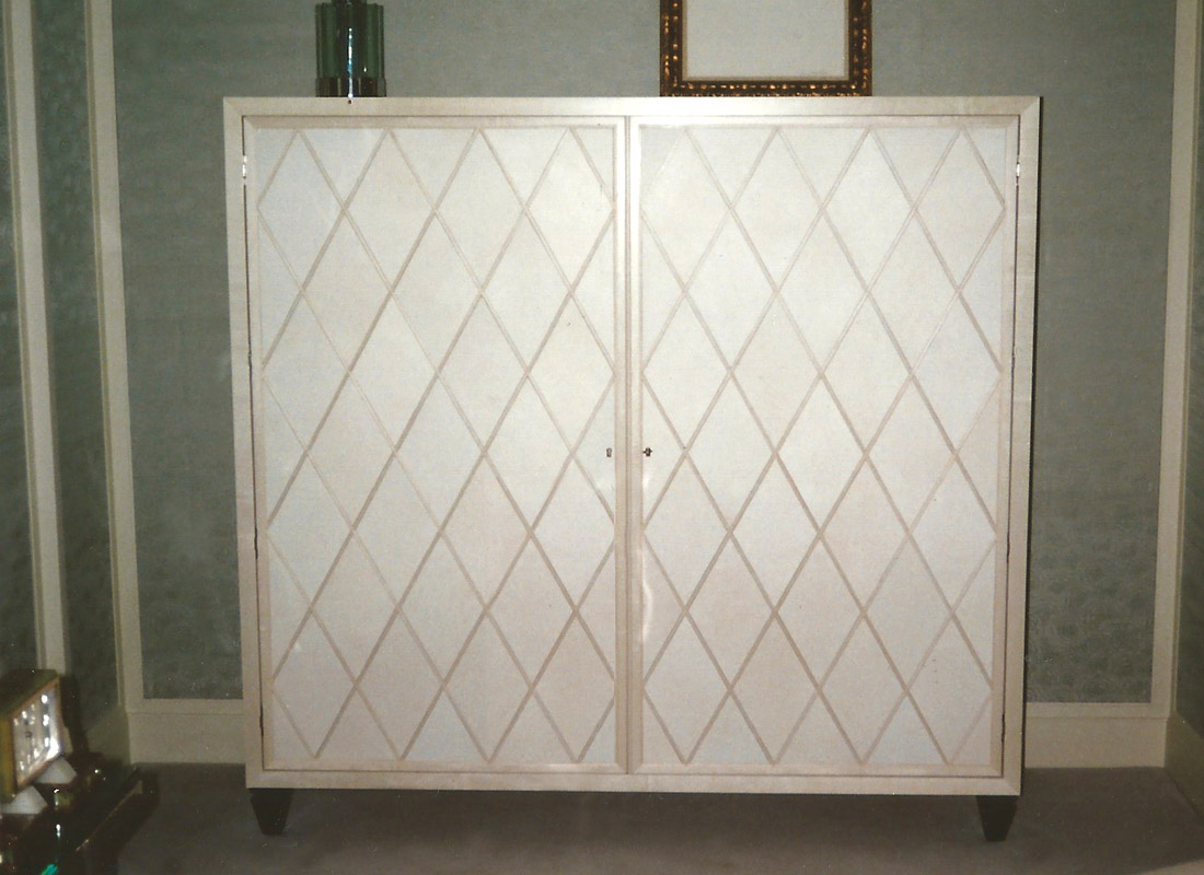 Tile Inlaid Cabinet