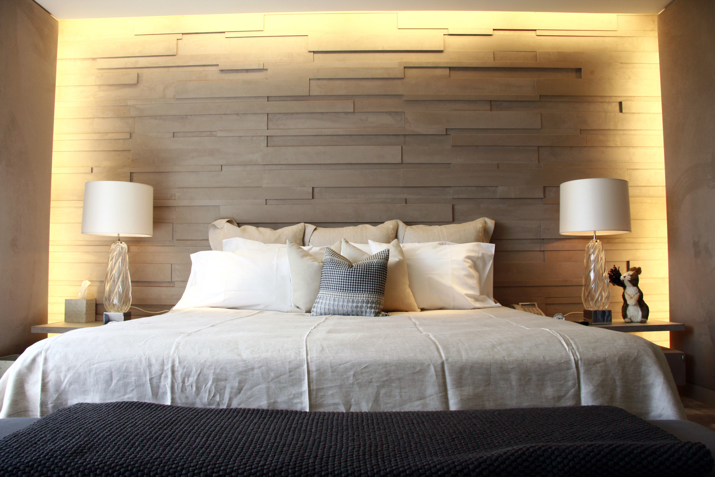 Faux Suede Wall